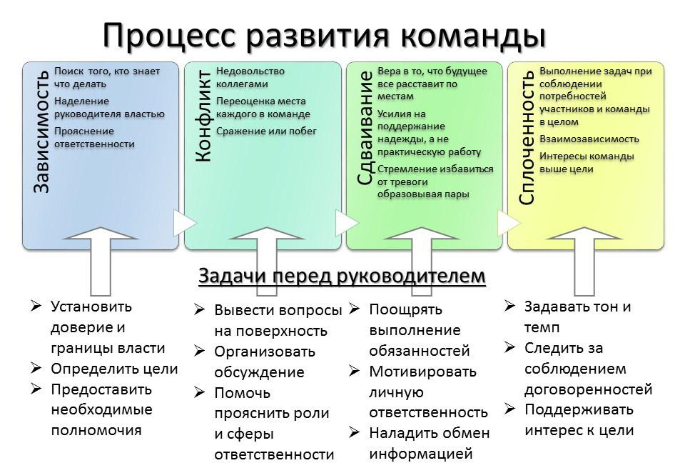 Процесс развития команды