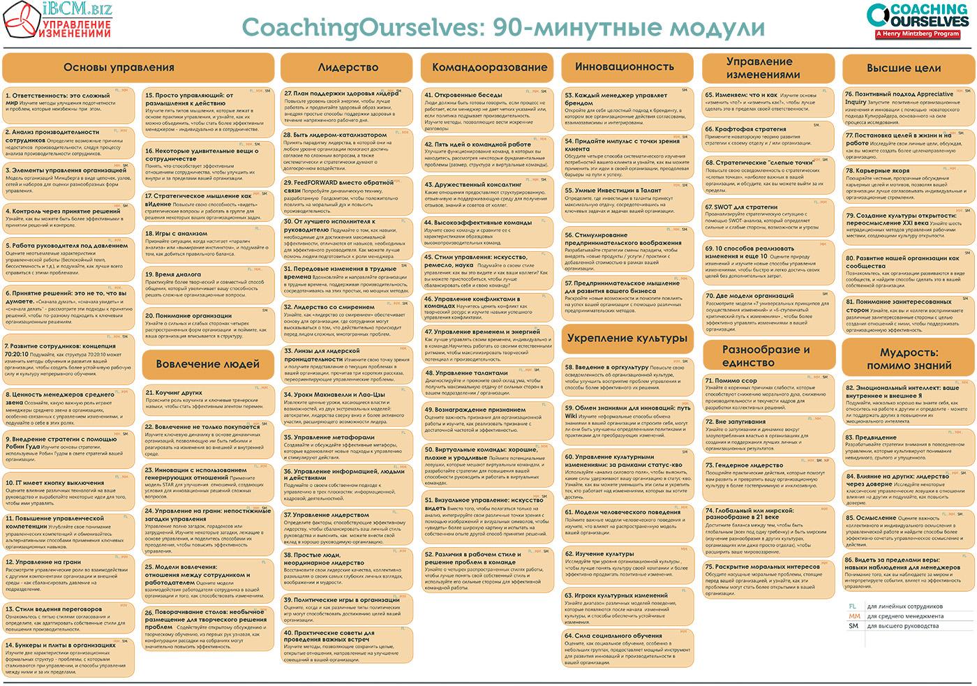 Базовый набор знаний руководителей CoachingOurselves