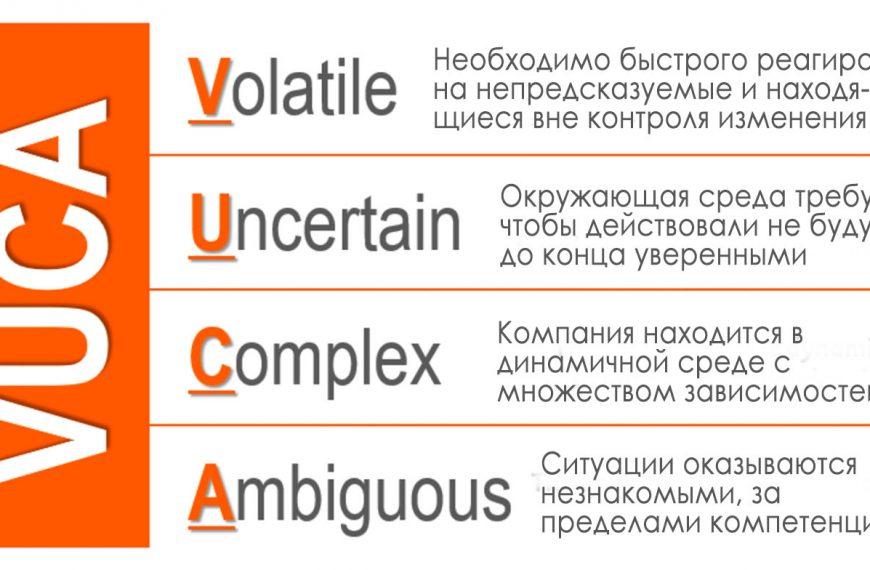 Среда VUCA, требующая адаптивности